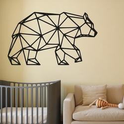 SENTOP Rzeźbiony obraz na ścianie niedźwiedzia PR0240 czarny