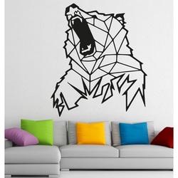STYLESA Rzeźbione obraz na ścianie z drewna niedźwiedzia PR0243 brązowy