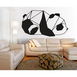 SENTOP Rzeźbiony obraz na ścianie niedźwiedzia czarny
