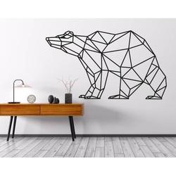 SENTOP obraz na ścianie geometryczne kształty niedźwiedź PR0244 brązowy
