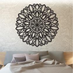 STYLE Drewniany obraz mandali na ścianie   wykonane ze sklejki HARMONY PR0246 czarne