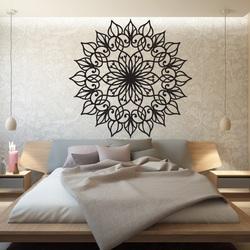 SENTOP Vyřezávaná dřevěná mandala obraz na stěnu z překližky KLÁRA