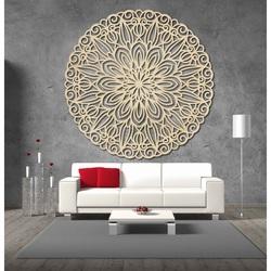 Stylesa Vyrezávaná mandala kvet drevený obraz na stenu z preglejky DFGSS i čierny PR0249
