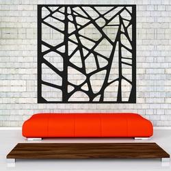 Rzeźbiony drewniany obraz na ścianie wykonanej ze sklejki
