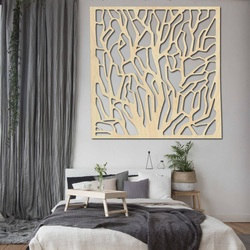 Rzeźbione drewniane ściany obrazu ze sklejki KVADER