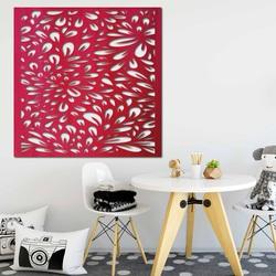 Rzeźbiony obraz na ścianie drewnianej sklejki kwiat HORLILG