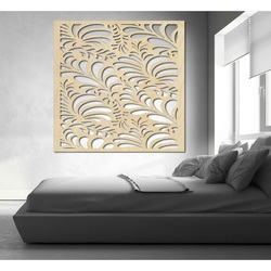 Rzeźbiony obraz na ścianie drewnianej sklejki kwiat LUPENE