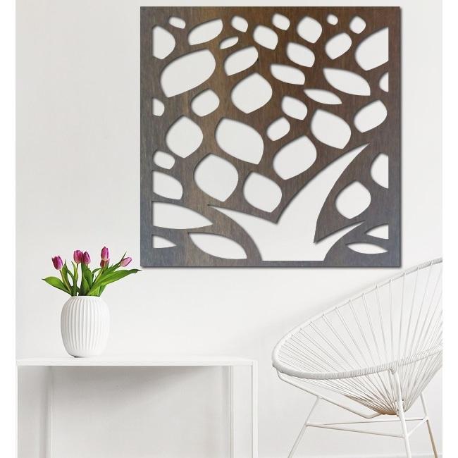 Rzeźbiony obraz na ścianie drewnianej sklejki kwiat LUSEKOJ