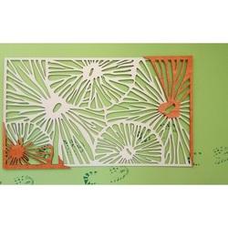 Rzeźbiony obraz włączony  drewniana sklejka kolor ściany oryginalna topola / pomarańcza ALICE