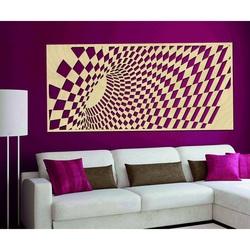 Gustowny obraz na ścianie wykonany z drewnianej sklejki ÚLETT