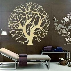 Cudowny drewniany obraz na ścianie drzewa w kręgu ZITNAK
