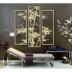 Ekskluzywny obraz na ścianie wyrzeźbiony z drewnianej sklejki palmy TROPY