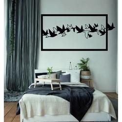Przykuwający wzrok obraz na ścianie rzeźbione drewniane sklejki ptaki NIEBO