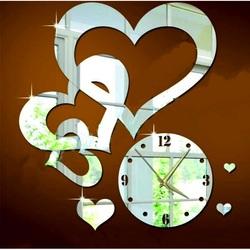 Kreatívne nástenné hodiny srdcia .