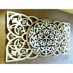 Mandala artystyczna obraz na ścianie wykonany ze sklejki, tylna część Oryginał topoli, wybrany kolor z przodu