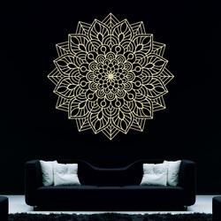 Drevený obraz na stenu kvet radosti I vyrezávaná mandala z preglejky