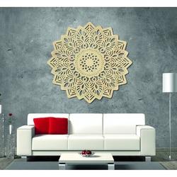 Magia obraz na ścianie drewnianej mandali ze sklejki