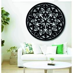 Magiczna drewniana mandala - obraz na ścianie