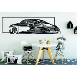 Nostalgiczny drewniany obraz na ścianie samochodu rzeźbione ze sklejki