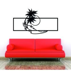 Nowoczesny obraz na ścianie palmy wykonanej z drewnianej sklejki