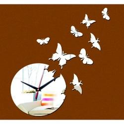 Nástenné hodiny zrkadlové motýle .