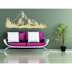 Obraz gór na ścianie z natury sklejki