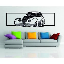 Obraz na ścianie drewniany samochód ze sklejki - powiew historii