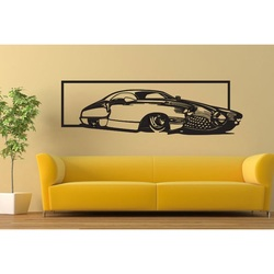 Ekskluzywny obraz na ścianie samochodu wykonanego ze sklejki historycznej