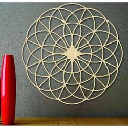Magiczna drewniana mandala na ścianę - Koła I średnica FI 50, 60, 70, 80, 90, cm