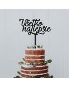 Nadzienie ozdobne do ciast. Na życzenie wykonujemy dekoracje w innych kolorach i rozmiarach.